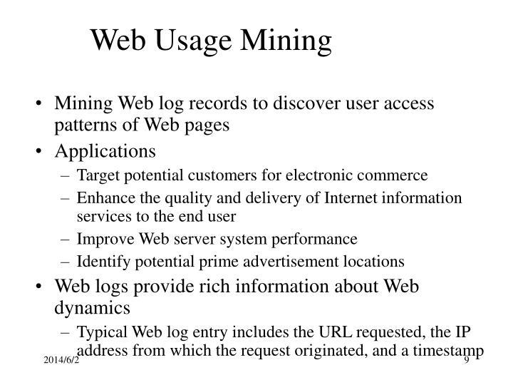 Web Usage Mining