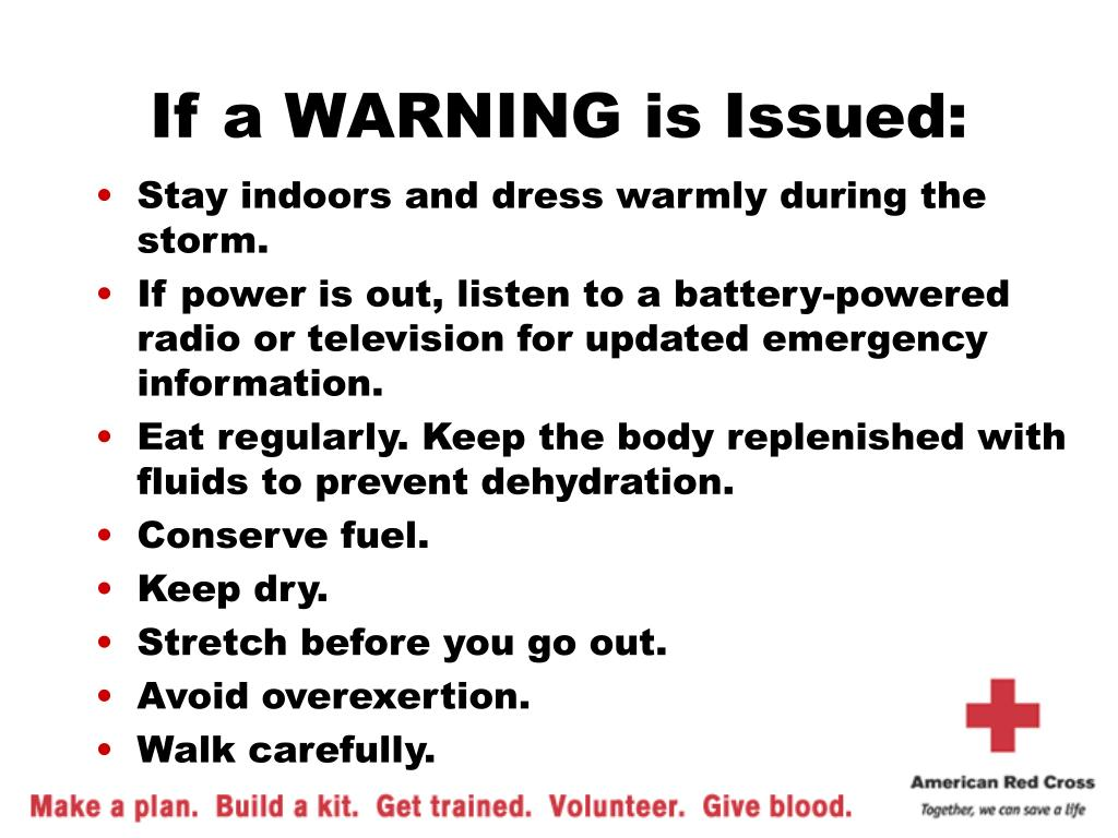 If a WARNING is Issued: