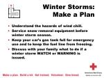 winter storms make a plan