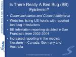 is there really a bed bug bb epidemic
