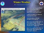 winter weather key information gaps