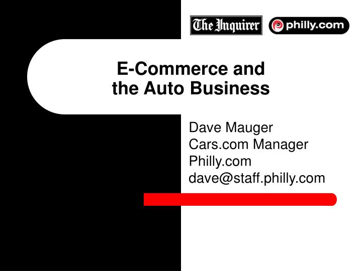 E commerce and the auto business