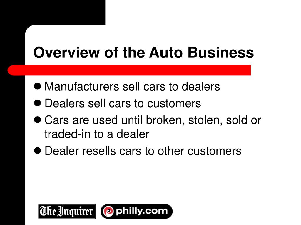 Overview of the Auto Business