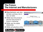 the future the internet and manufacturers