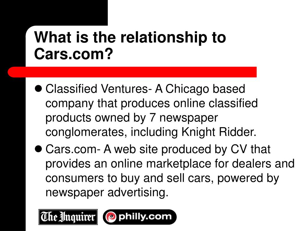 What is the relationship to Cars.com?