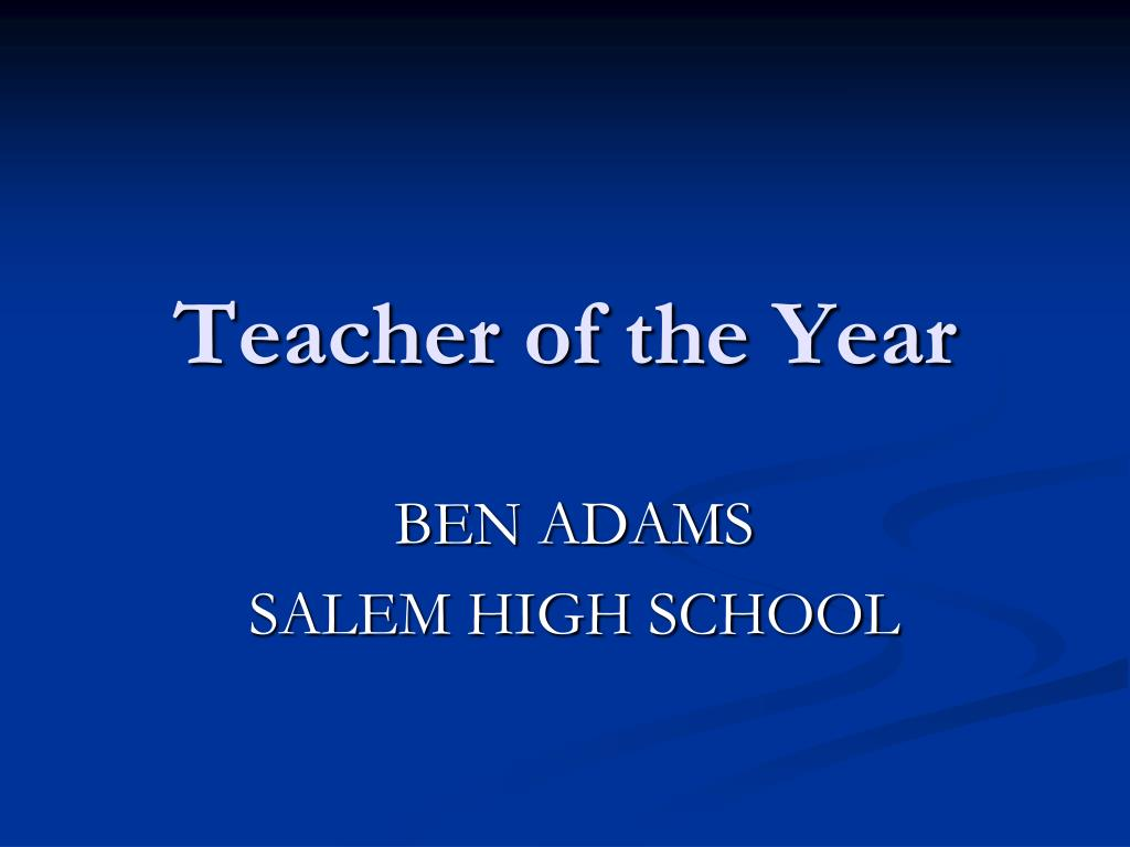 teacher of the year l.