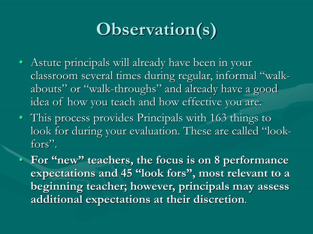 Observation(s)