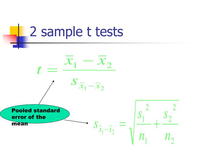 2 sample t tests