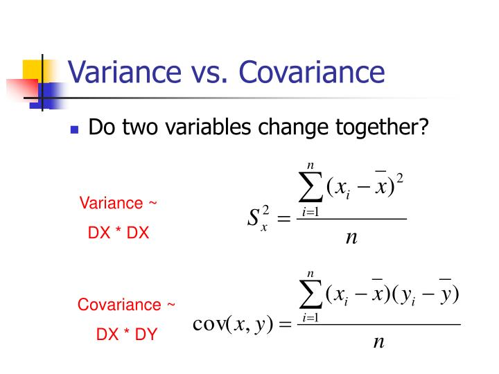 Covariance ~