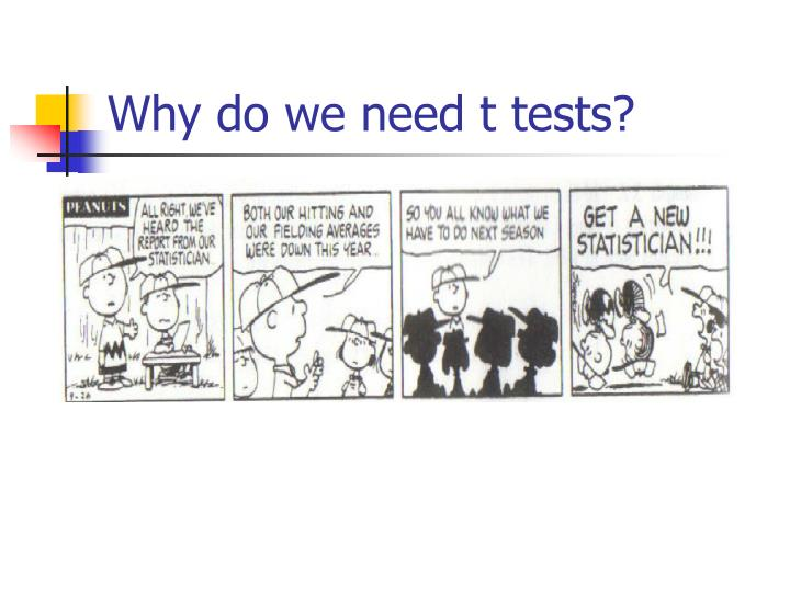 Why do we need t tests