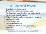 12 powerful words