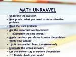 math unraavel10