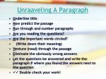 unraaveling a paragraph