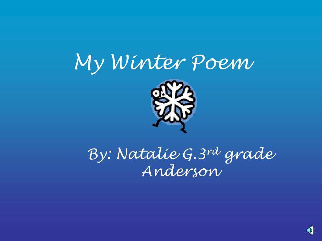 my winter poem l.