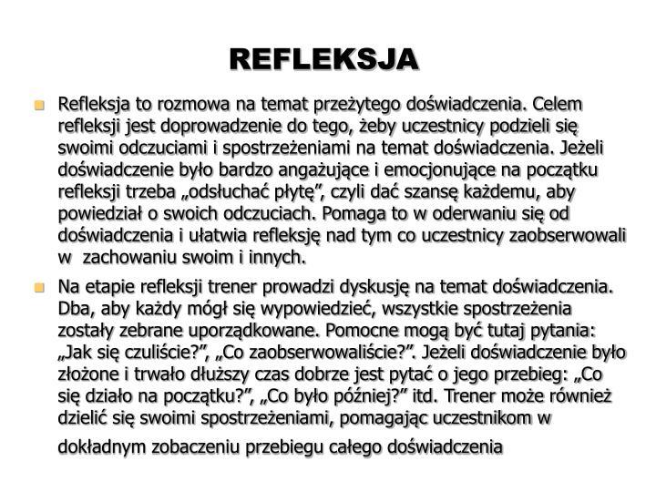 REFLEKSJA
