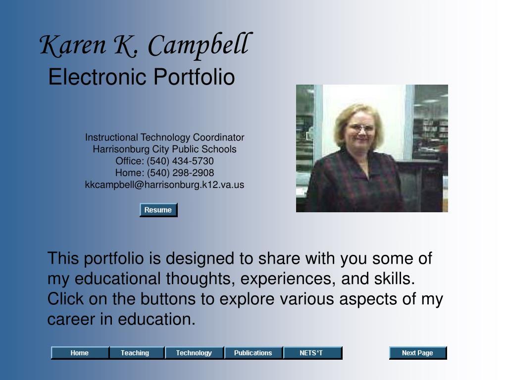 karen k campbell electronic portfolio l.