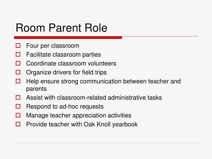 Room parent role