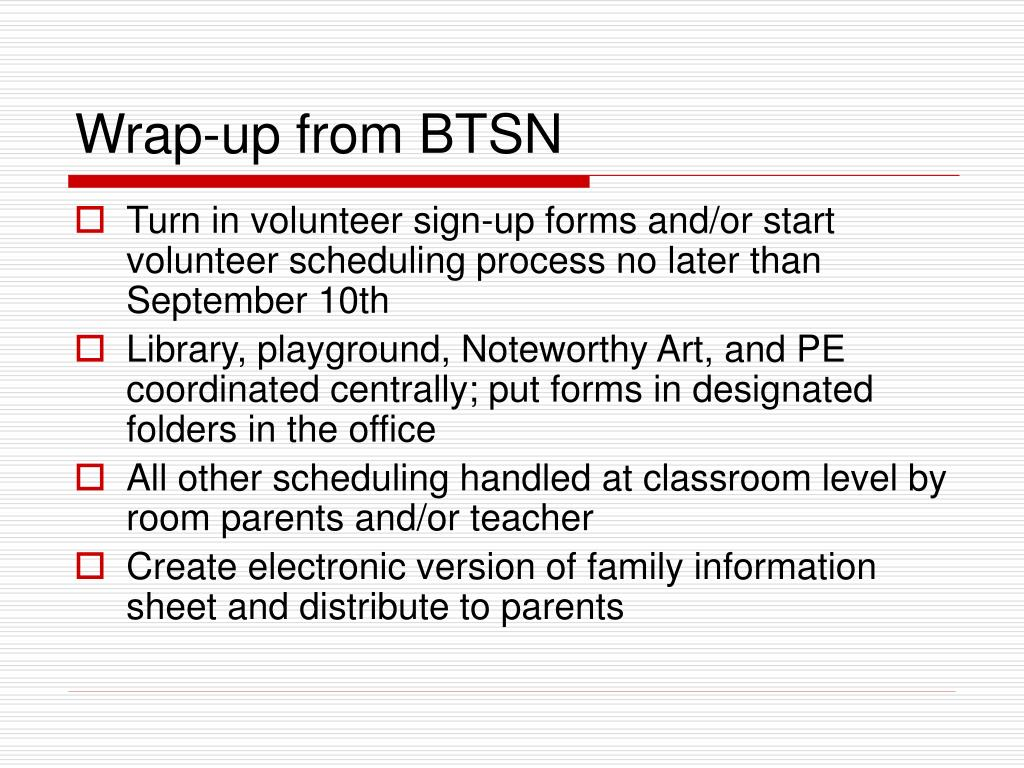 Wrap-up from BTSN