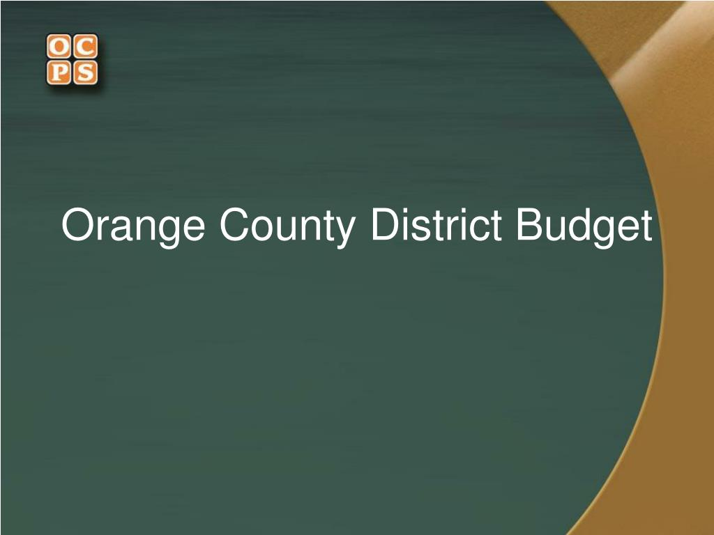 Orange County District Budget