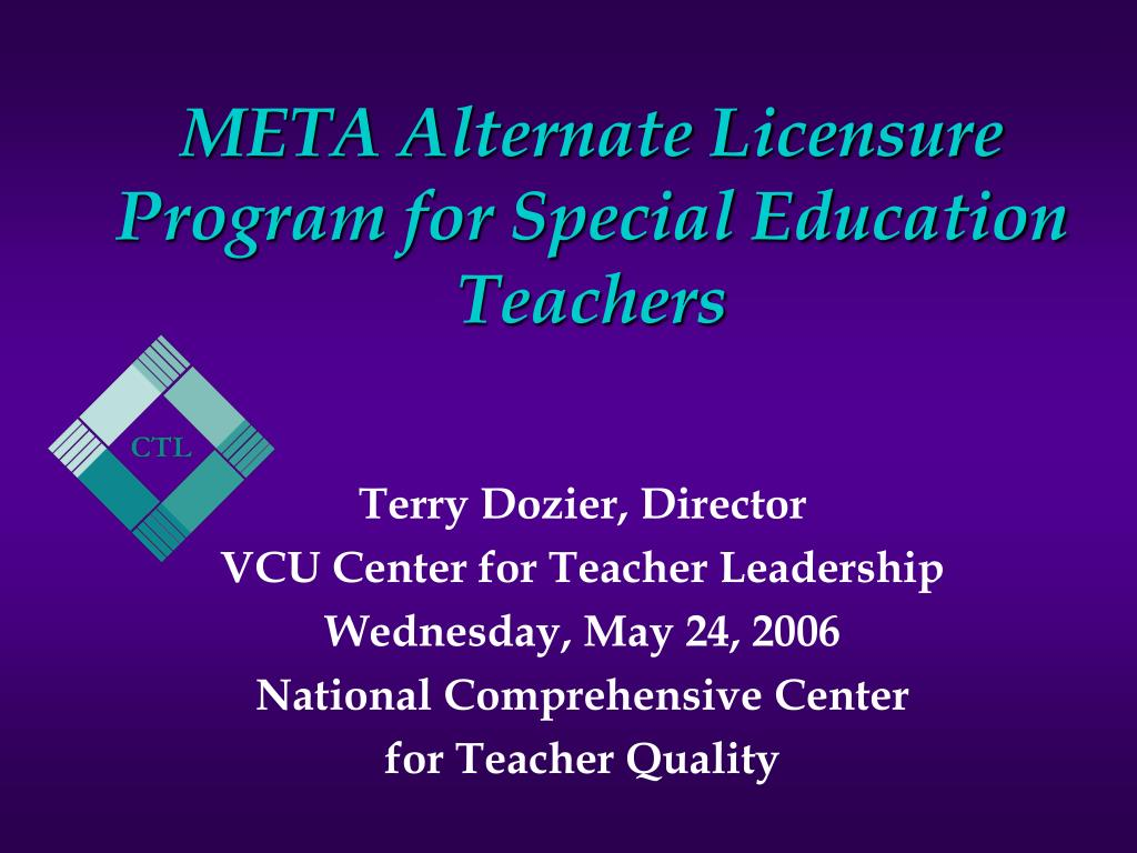 meta alternate licensure program for special education teachers l.