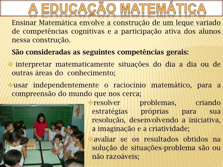 A educação matemática