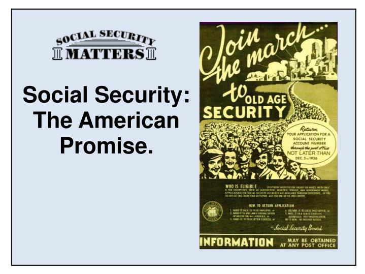 social security the american promise n.