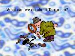 what can we do about terrorism