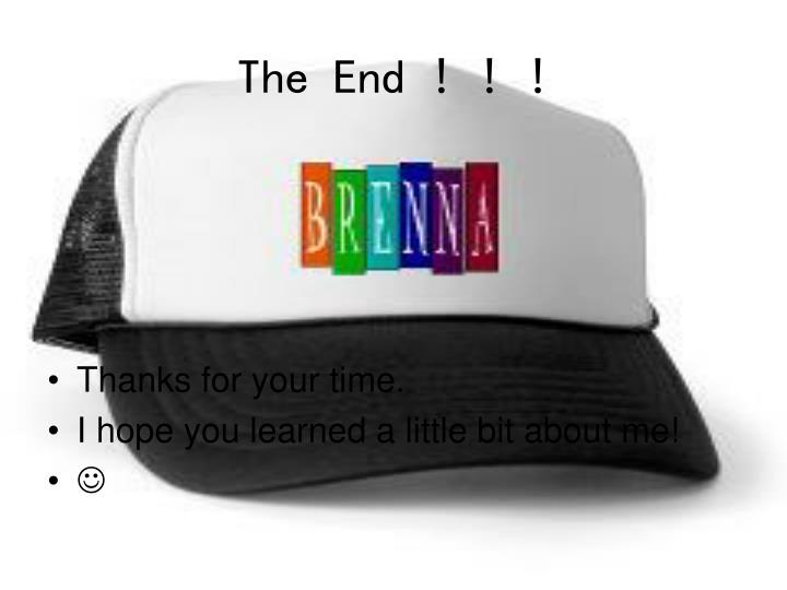 The End ! ! !