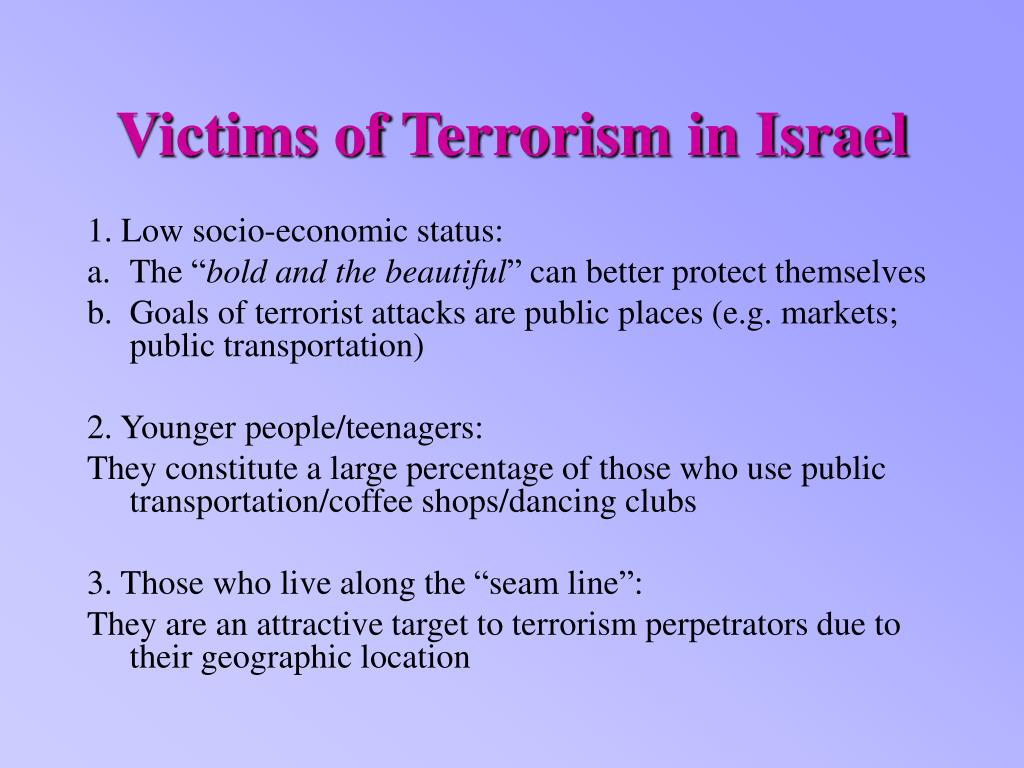 Victims of Terrorism in Israel
