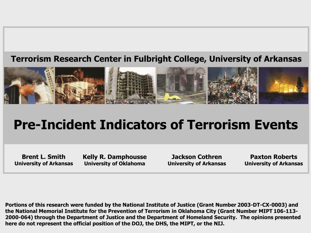 pre incident indicators of terrorism events l.