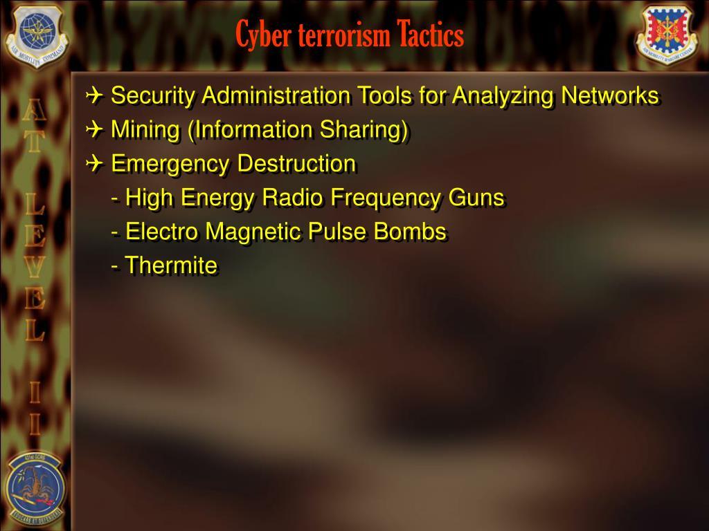 Cyber terrorism Tactics