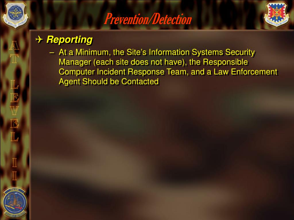 Prevention/Detection