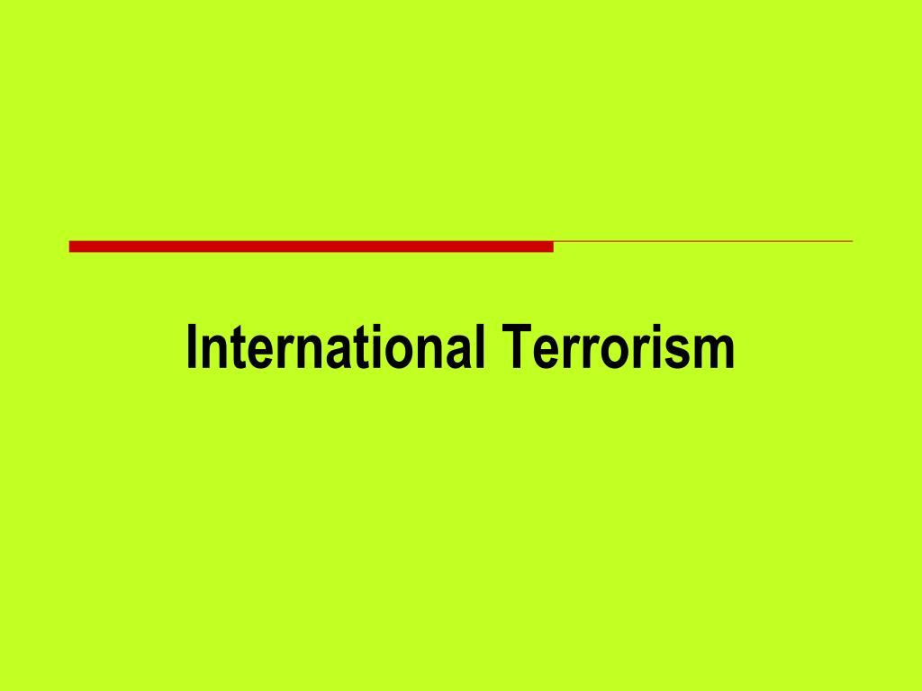 international terrorism l.
