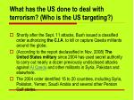 what has the us done to deal with terrorism who is the us targeting