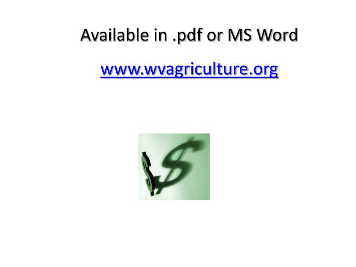 Available in .pdf or MS Word