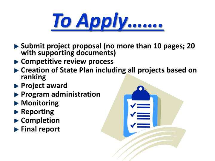 To Apply…….