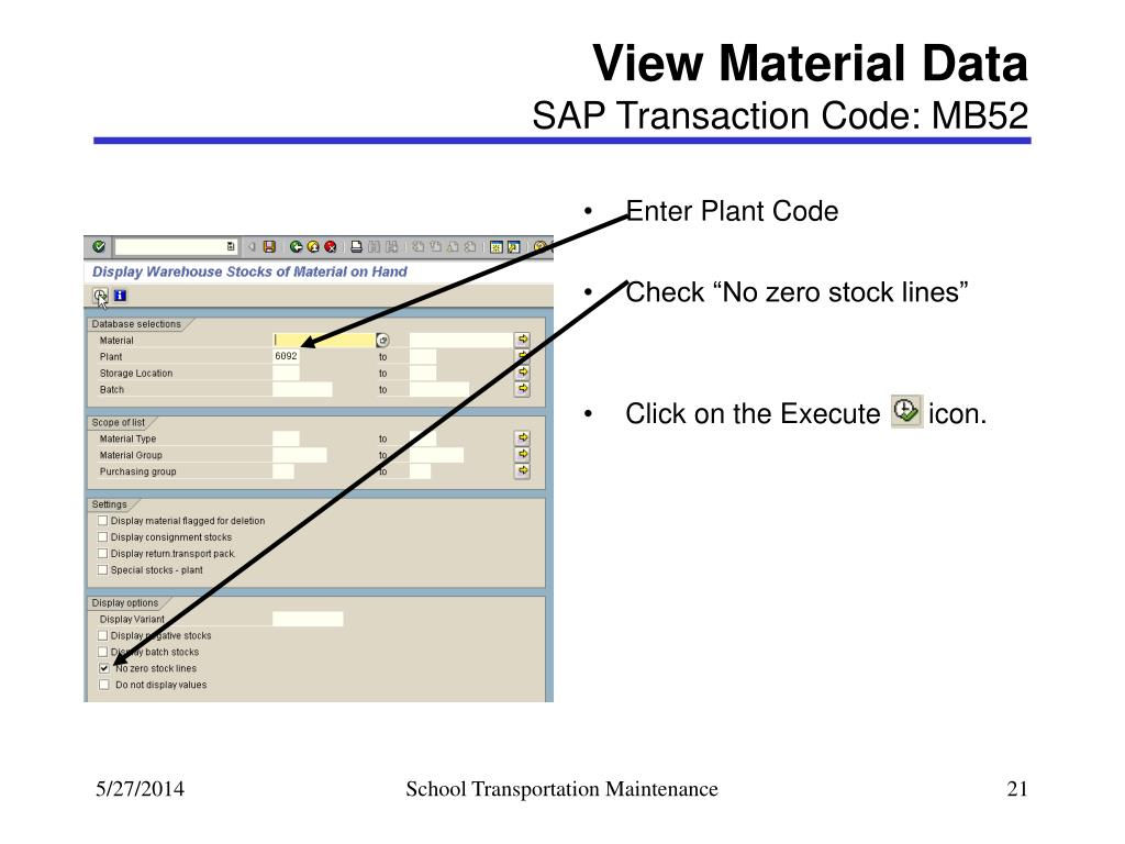 PPT - School Transportation Maintenance PowerPoint