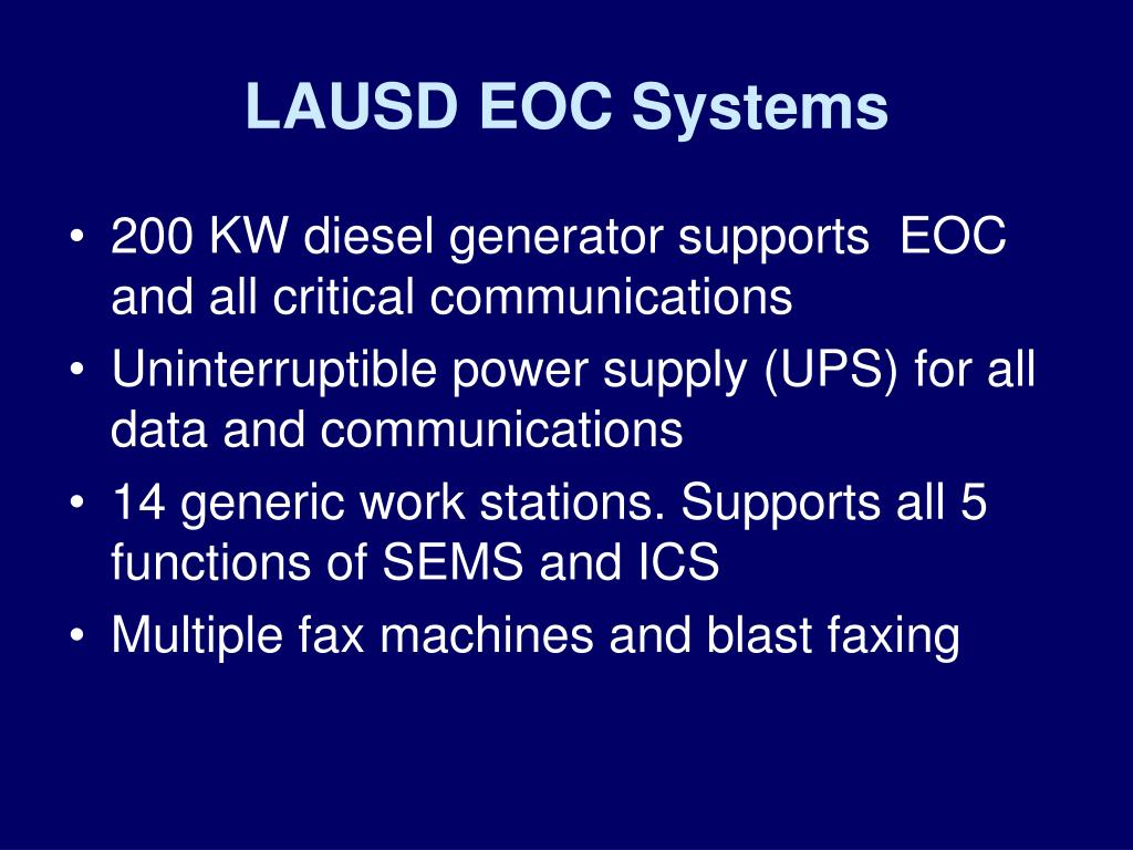 LAUSD EOC Systems