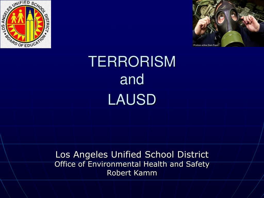 terrorism and lausd l.
