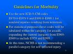 guidelines for morbidity15