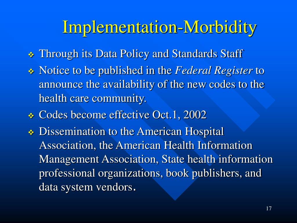 Implementation-Morbidity