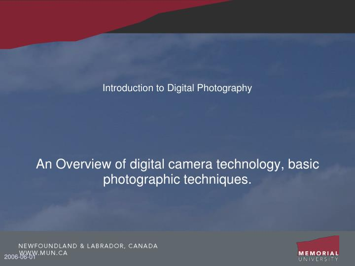 introduction to digital photography n.
