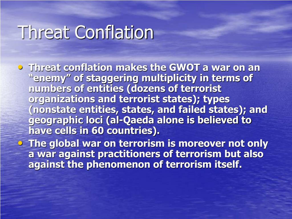 Threat Conflation