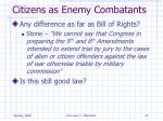 citizens as enemy combatants