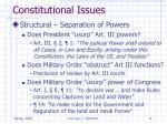 constitutional issues