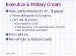executive military orders