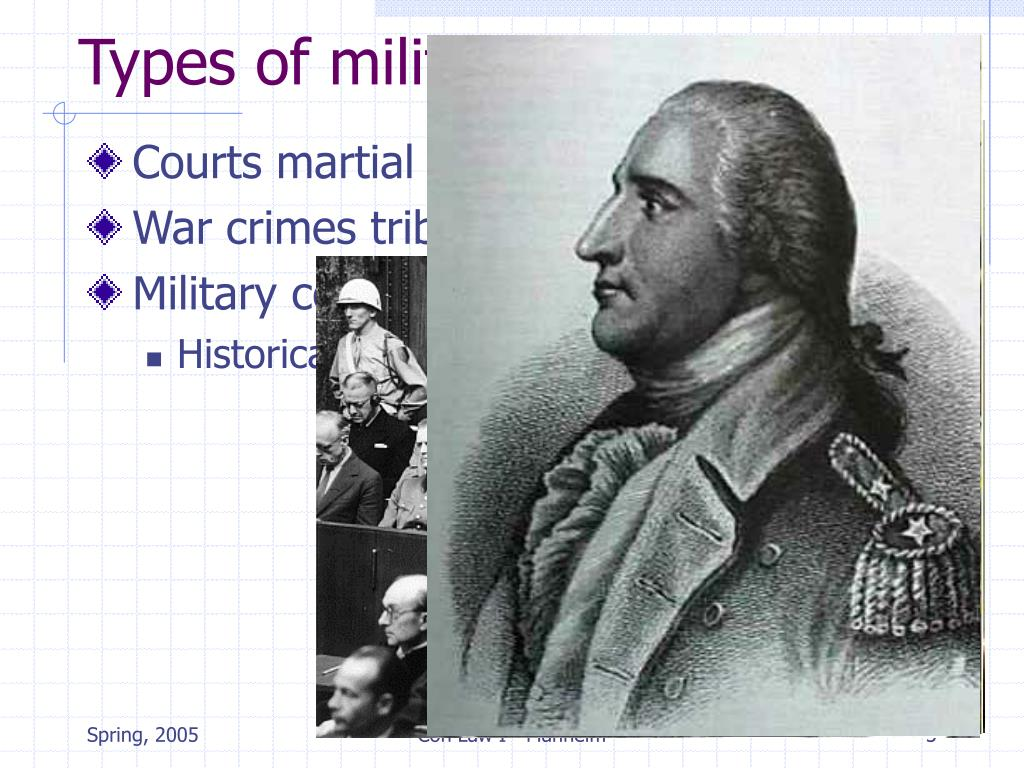 Types of military tribunals