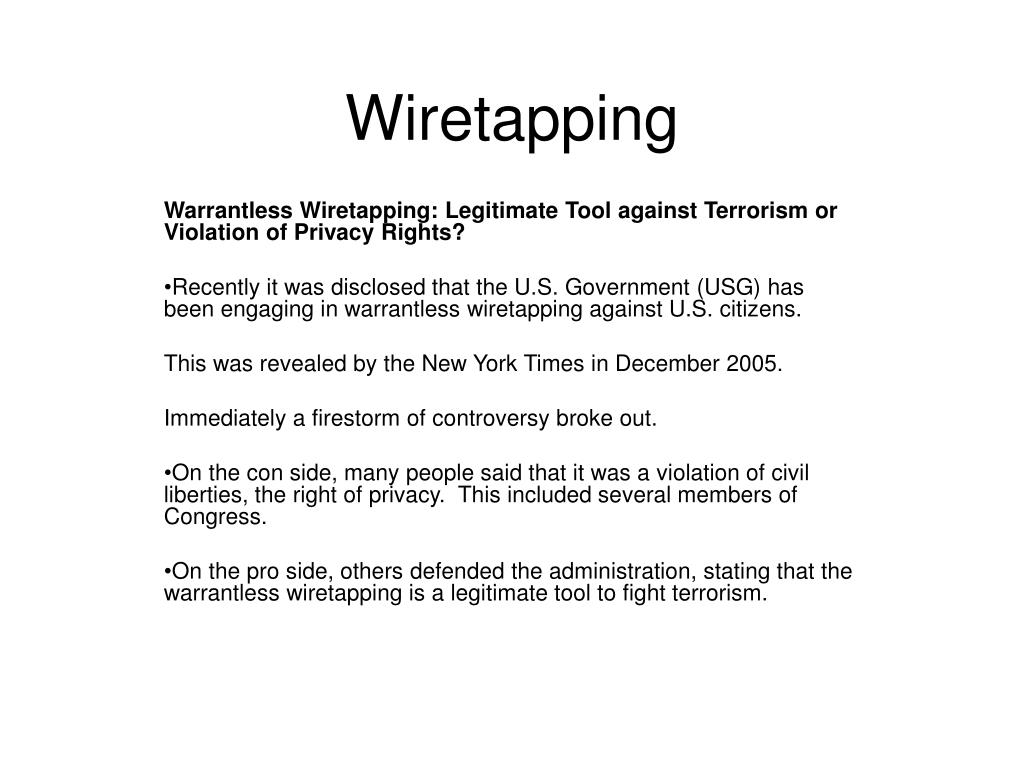 wiretapping l.