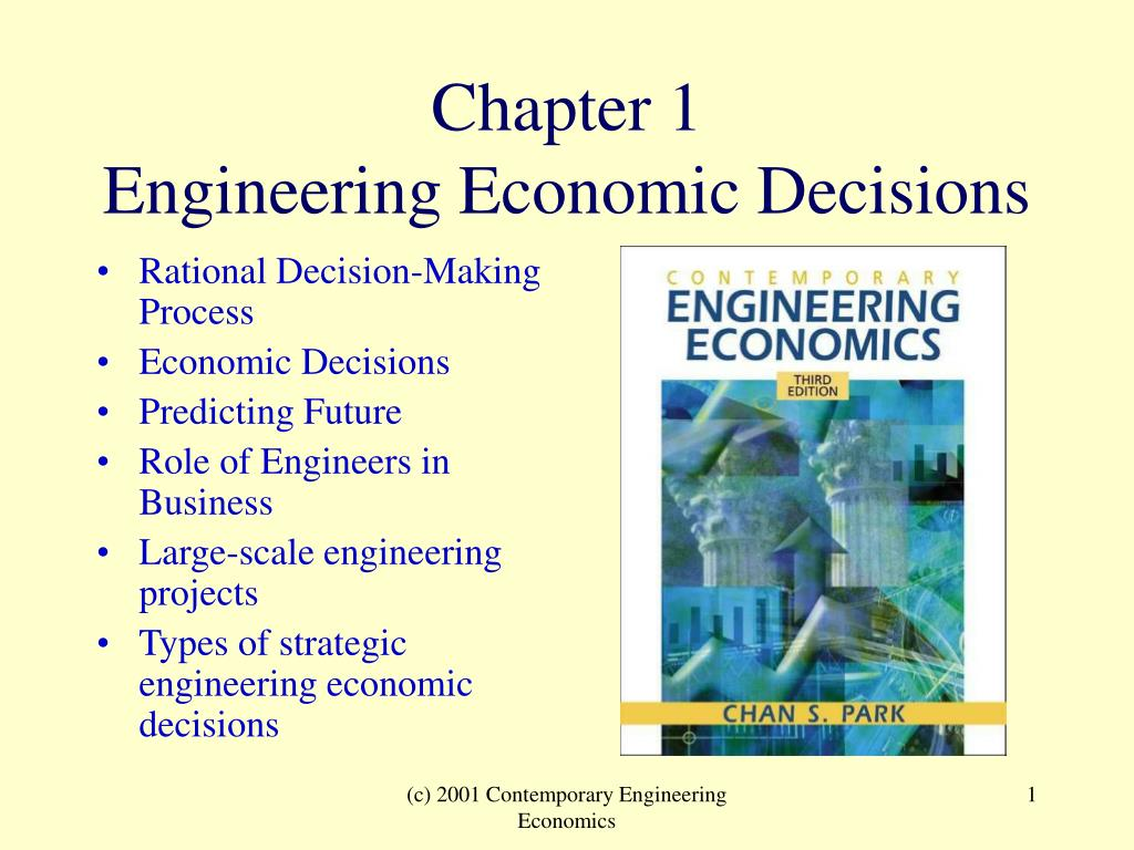 chapter 1 engineering economic decisions n.