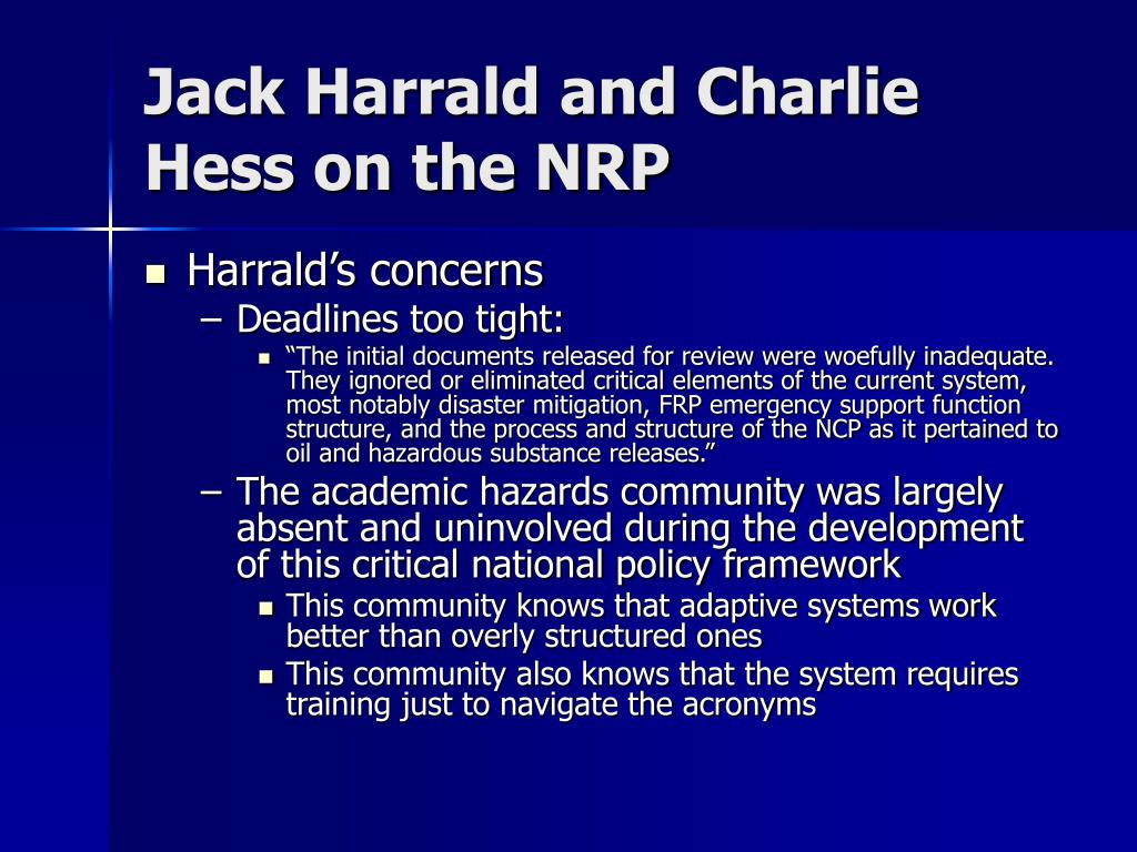 Jack Harrald and Charlie Hess on the NRP